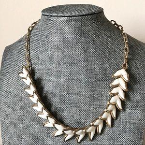 Vintage White Acrylic Mermaid Fish Tail Necklace